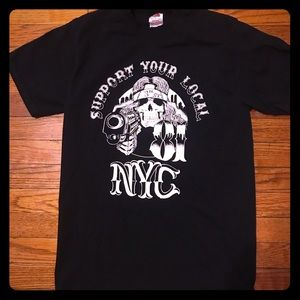 Vintage Hell's Angels NYC 81 Rock Tee